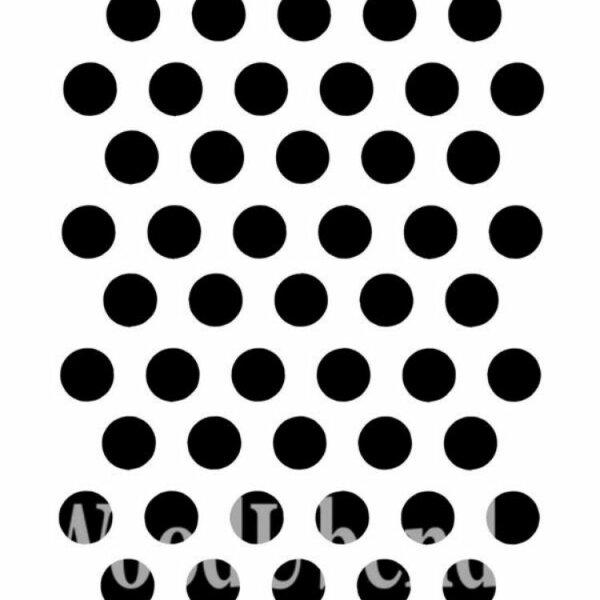 """Stencil """"Posh to Dot"""" - 21 x 30 cm"""