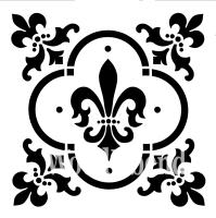 """Stencil """"Fleur de Lis"""" - 30 x 30 cm"""