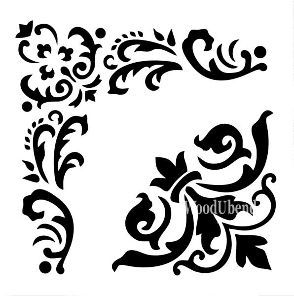 """Stencil """"Woodubens"""" - 30 x 30 cm"""