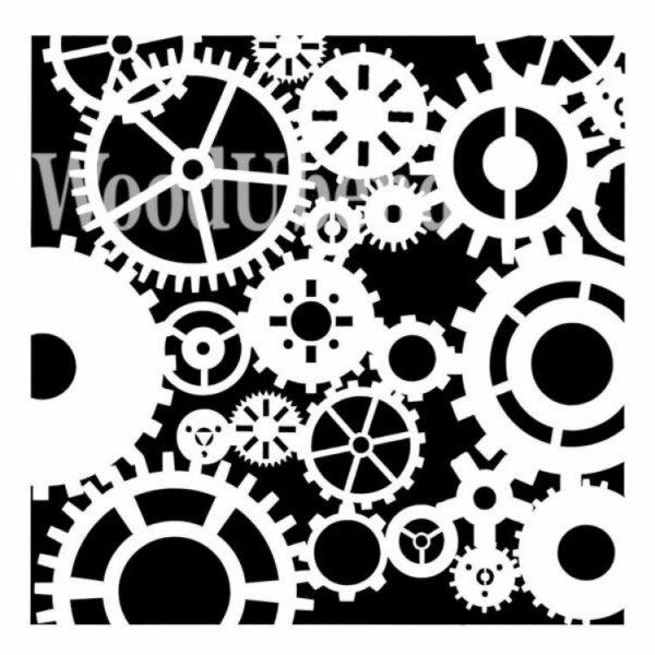 """Stencil """"Steampunk Flair"""" - 30 x 30 cm"""