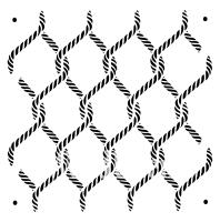 """Stencil """"Posh Knots"""" - 60 x 60 cm"""