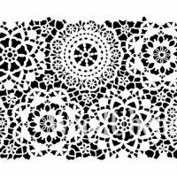 "Stencil ""Posh Hippy Lace"" - 120 x 80 cm"