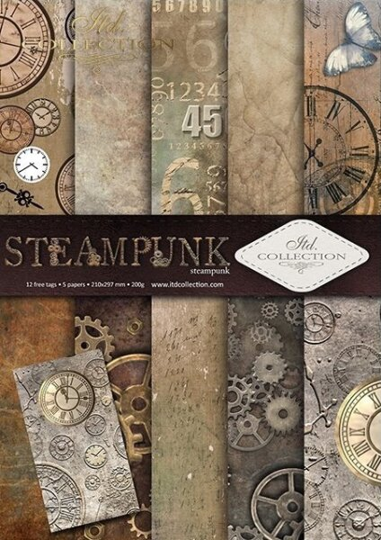 "Scrapbooking Set ""STEAMPUNK"" A4"