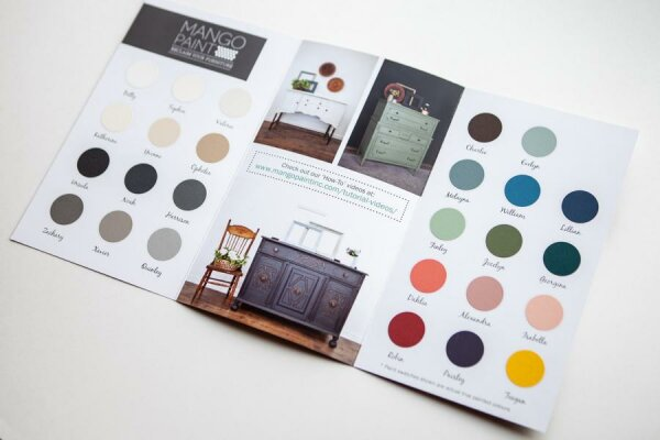 Mango Paint Broschüre / Farbkarte