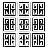 "Stencil ""Greek Maze"" - 50 x 50 cm"