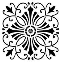 "Stencil ""Posh Cross"" - 50 x 50 cm"
