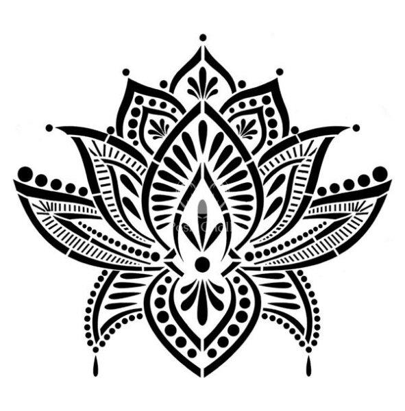 """Stencil """"Lotus Blossom"""" - 30 x 30 cm"""