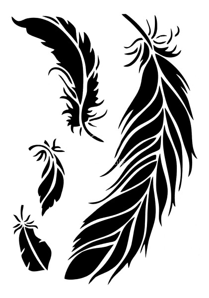 "Stencil ""Posh Feathers"" - 21 x 30 cm"