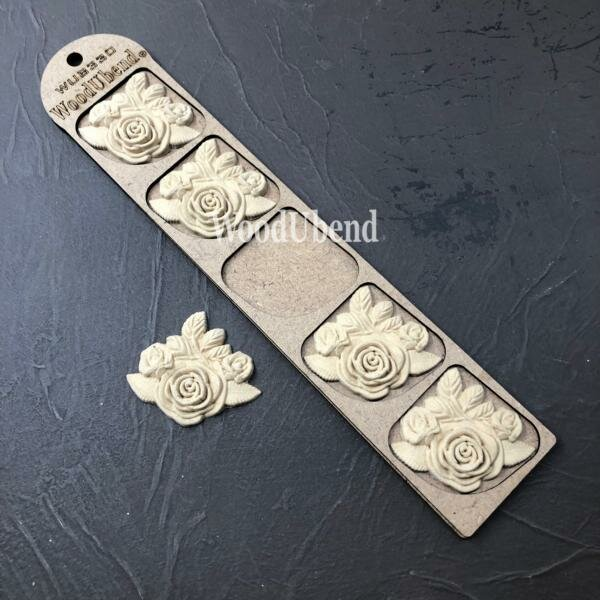 WoodUbend Rose Bouquet 6 x 6 cm