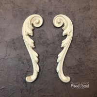 WoodUbend WUB1723 Decorative Scrolls Set 19,5 x 5,5 cm