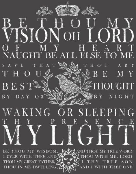 "IOD Decor Transfers ""Be Thou My Vision"" klein"