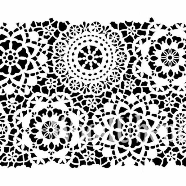 "Stencil ""Hippy Lace"" - 35 x 49 cm"