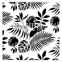 Posh Chalk Stencil Tropical Leaves - 50x50 cm