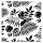 """Stencil """"Tropical Leaves"""" - 50 x 50 cm"""